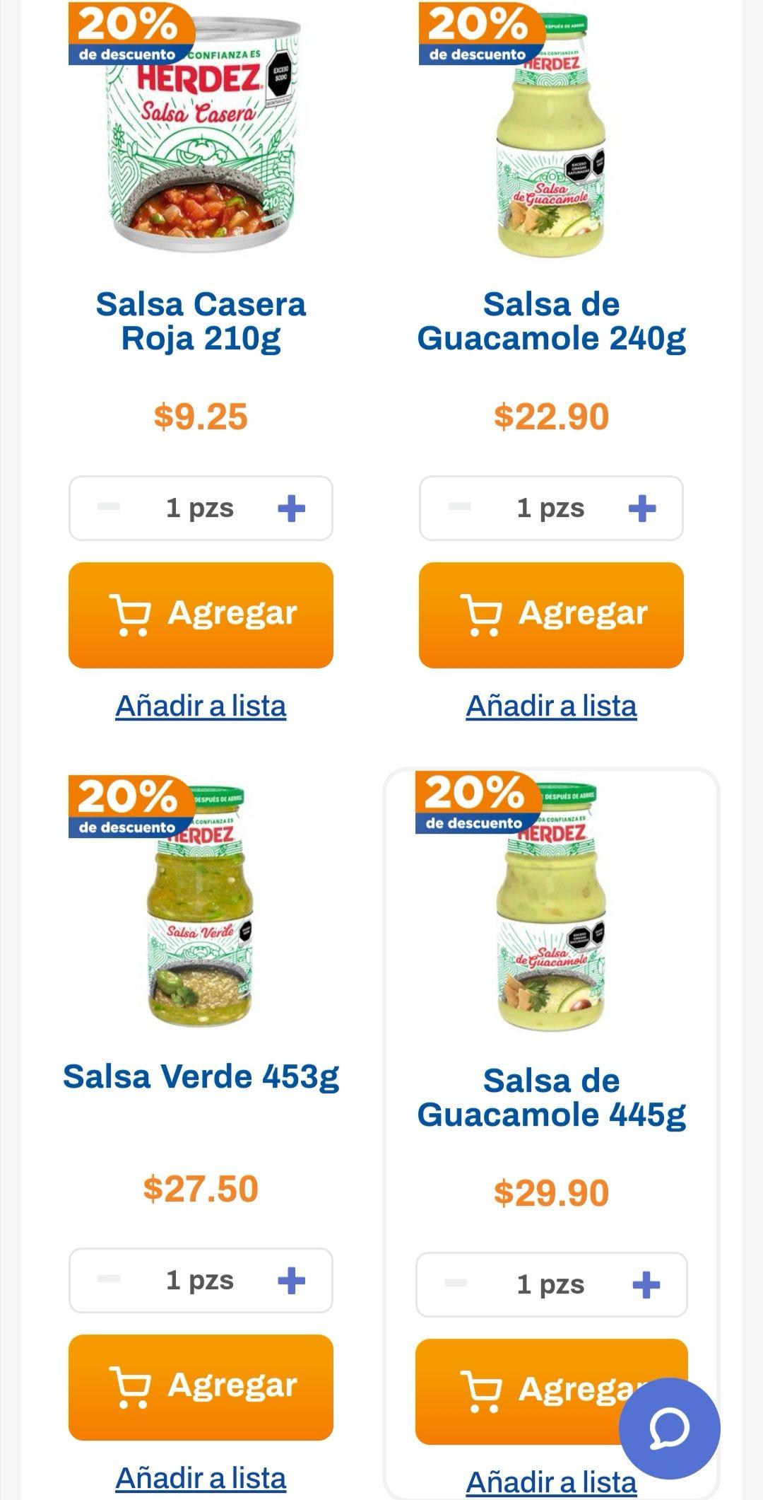 Chedraui: 20% de descuento en salsas caseras Herdez