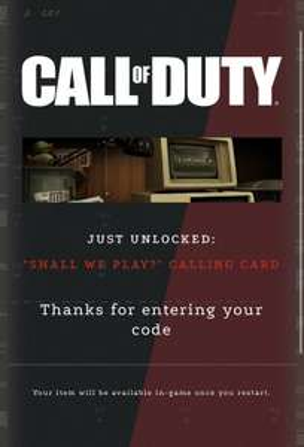 Tarjeta de visita gratis para Call of Duty Warzone