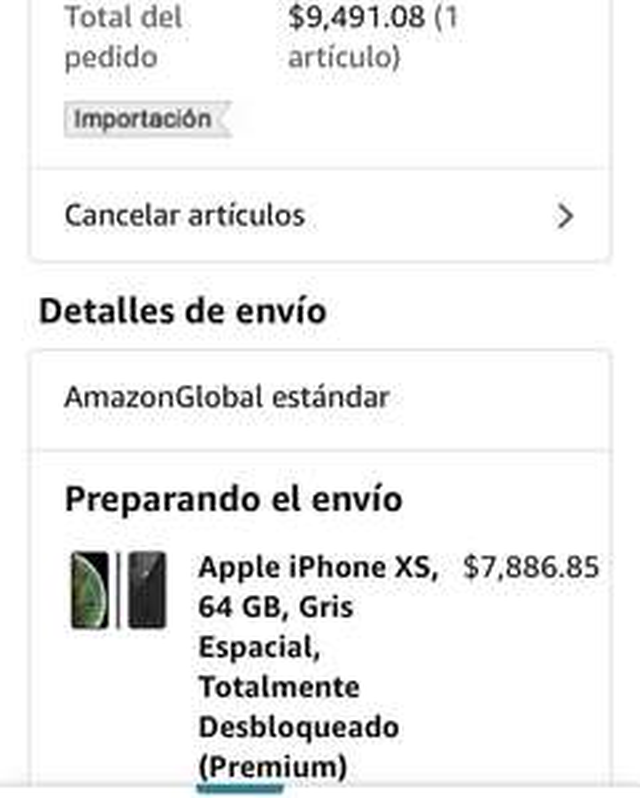 Amazon: iPhone XS 64 gris espacial MESES SIN INTERESES (premium)