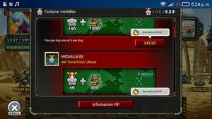 Medallas y Municios en oferta app Metal slug attack IOS-ANDROID
