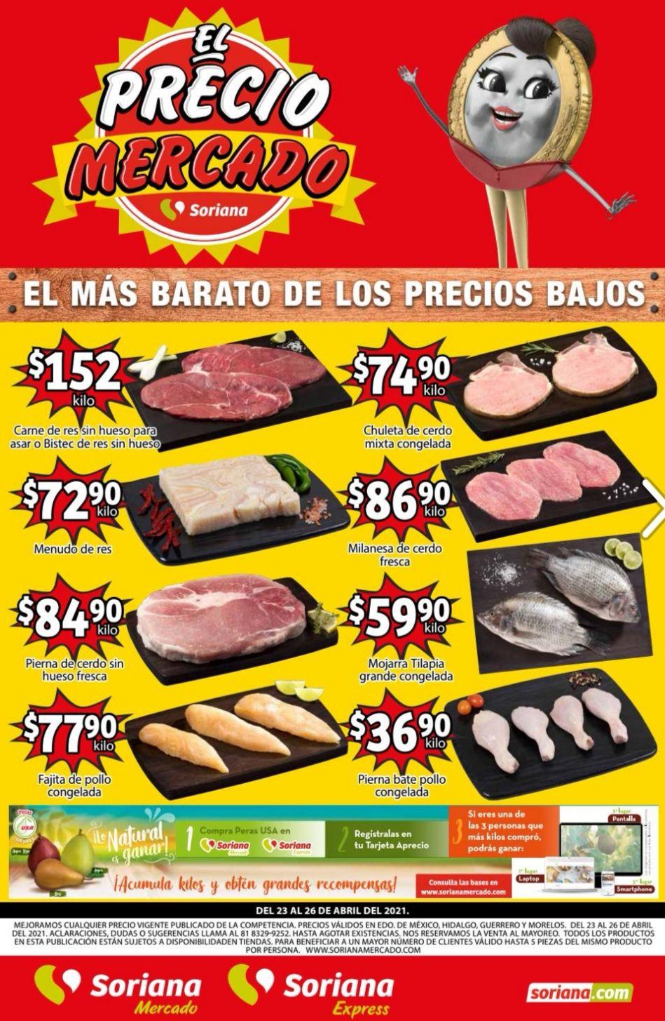 Soriana Mercado y Express: Volante de Ofertas Fin de Semana del Viernes 23 al Lunes 26 de Abril