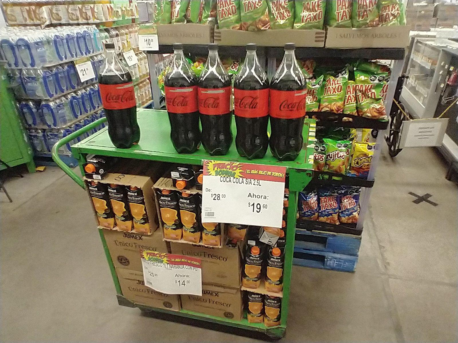 Bodega aurrera huatusco: Coca cola sin azúcar 2.5 lt