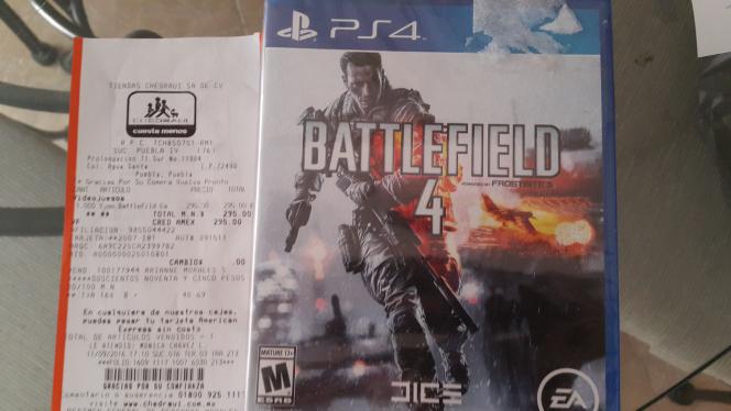 Chedraui: Battlefield 4 para PS4 a $296