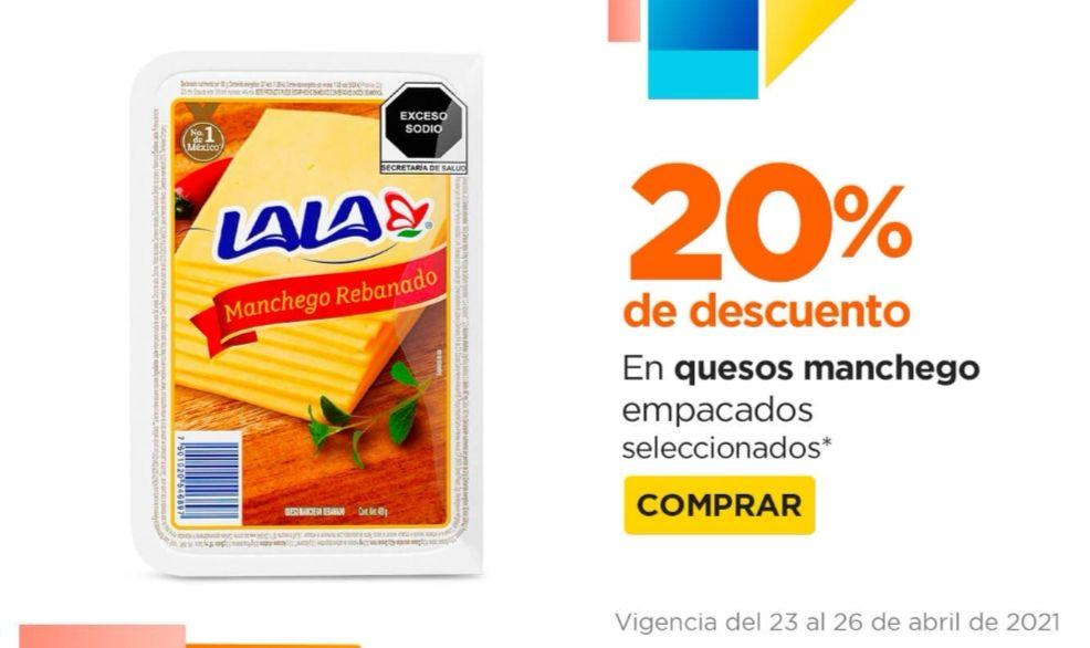 Chedraui: 20% de descuento en la compra a partir de 2 paquetes de quesos Manchegos rebanados empacados seleccionados