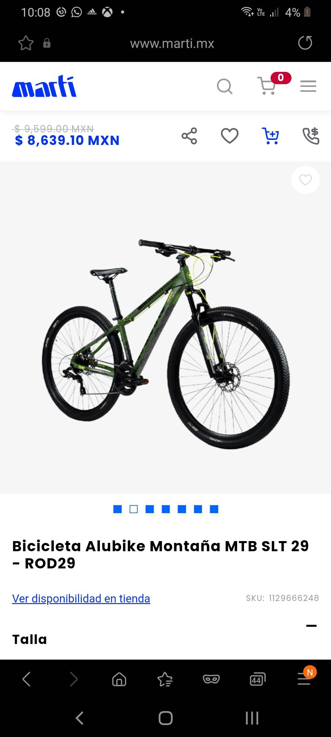 Martí, Bicicleta alubike R29 montaña
