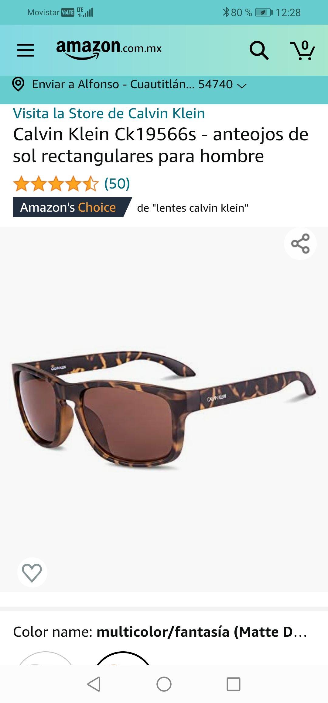 Amazon : Calvin Klein Ck19566s - anteojos de sol rectangulares para hombre
