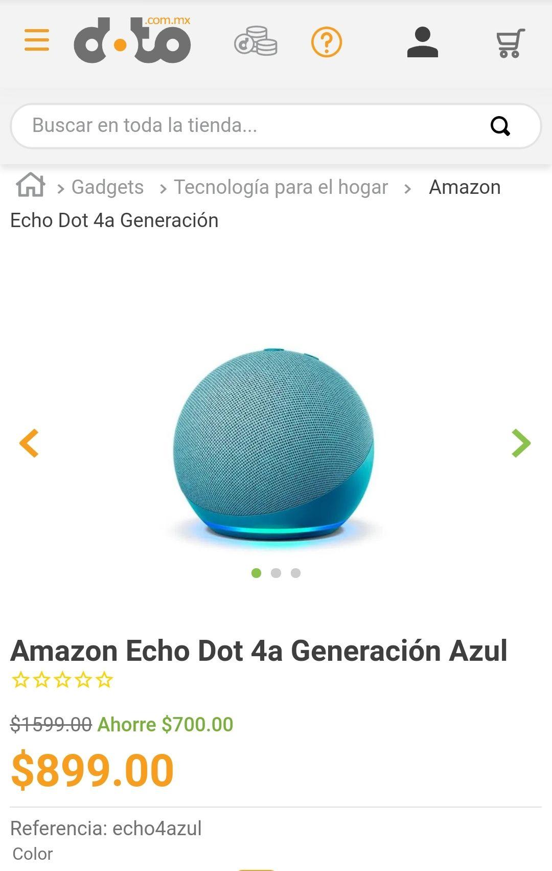 Amazon Echo Dot 4a Generación Azul