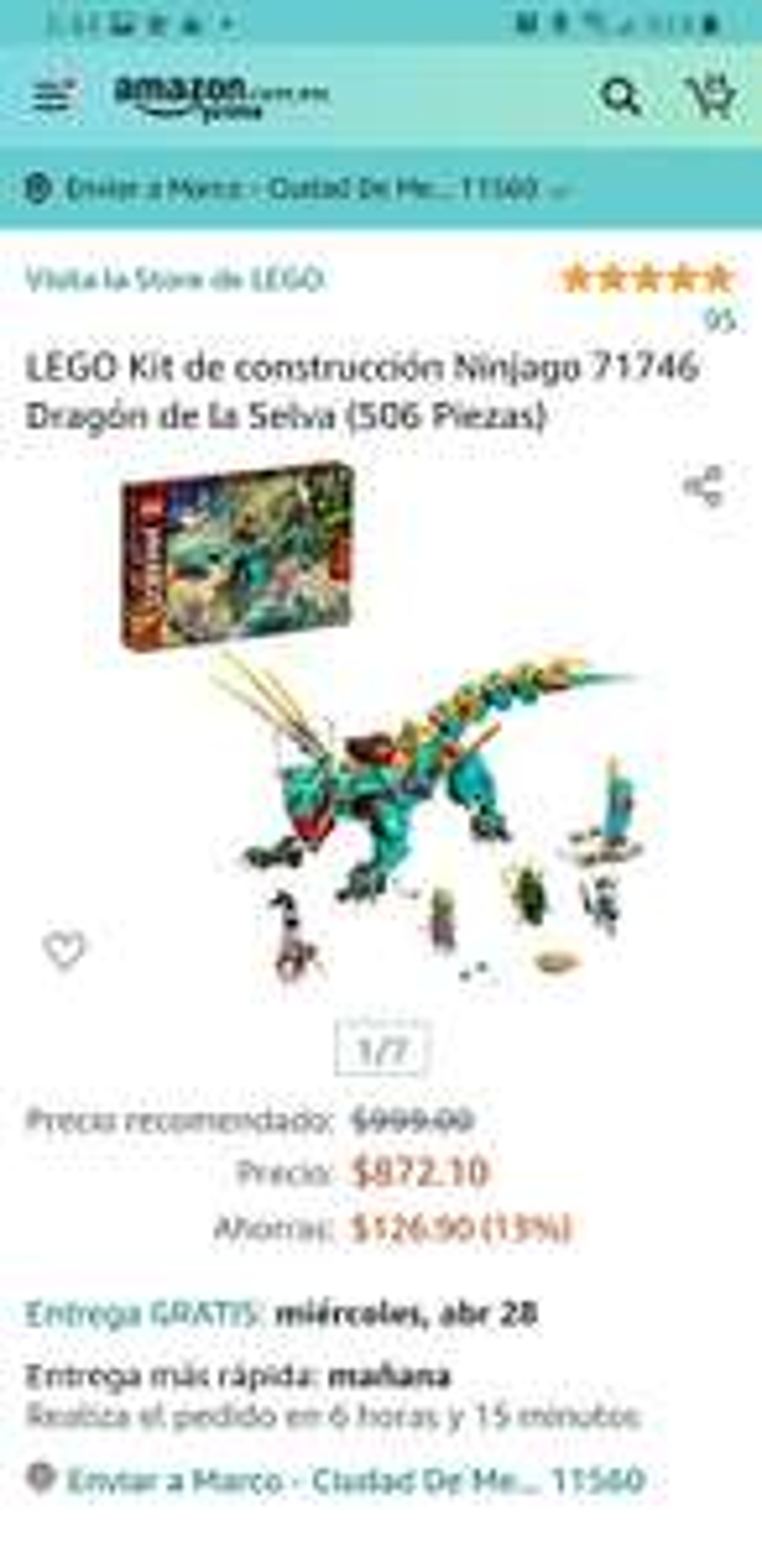 Amazon: Lego ninjago Dragon de la selva, (nuevos sets)