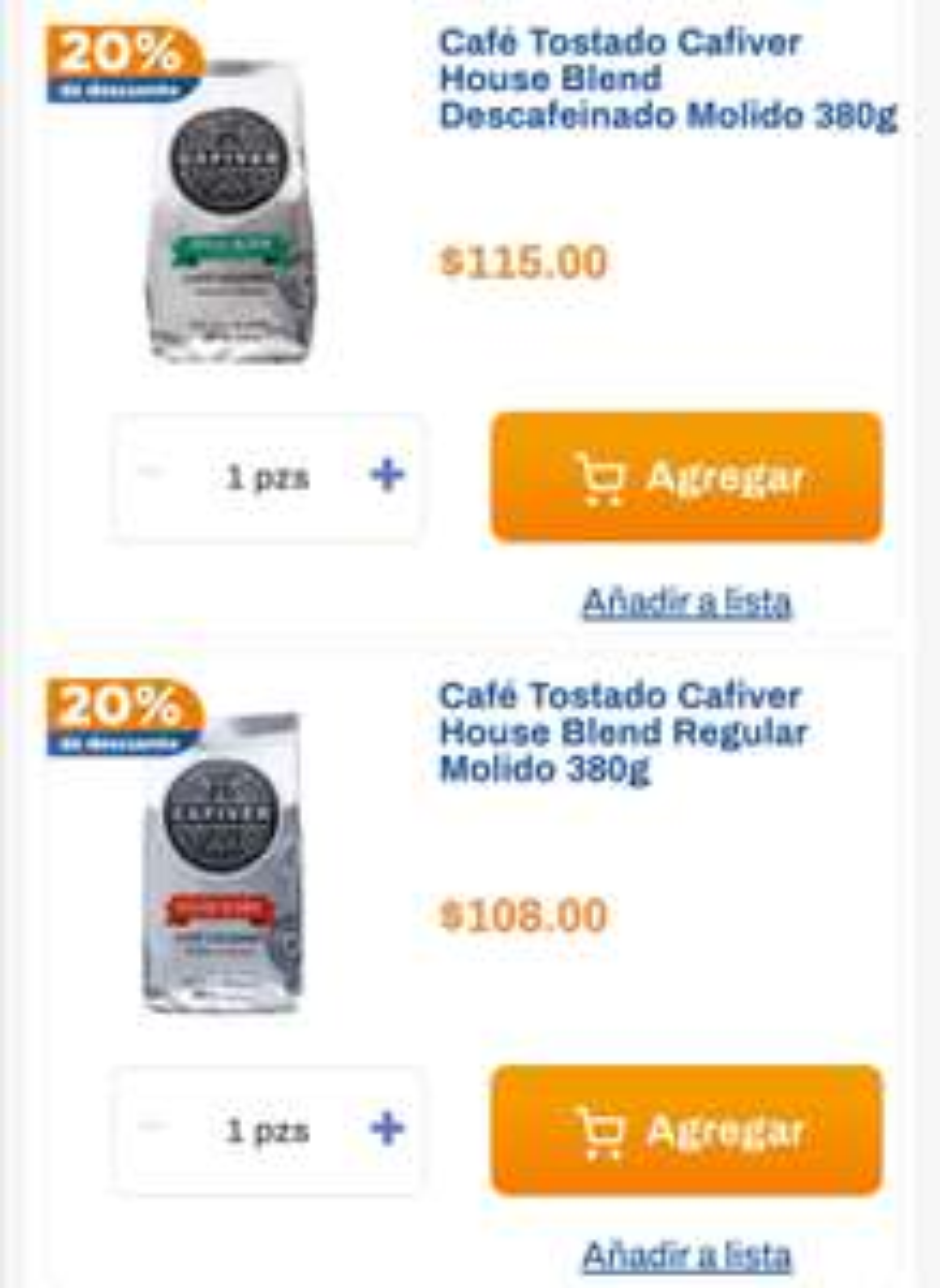 Chedraui: 20% de descuento en café House Blend Cafiver regular y descafeinado 380 g