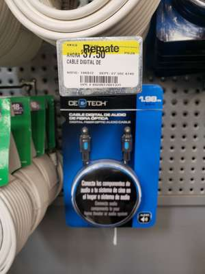 Home Depot: Cable Óptico (Toslink) 1.98m