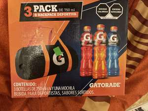 3pack Gatorade + backpack deportiva Walmart