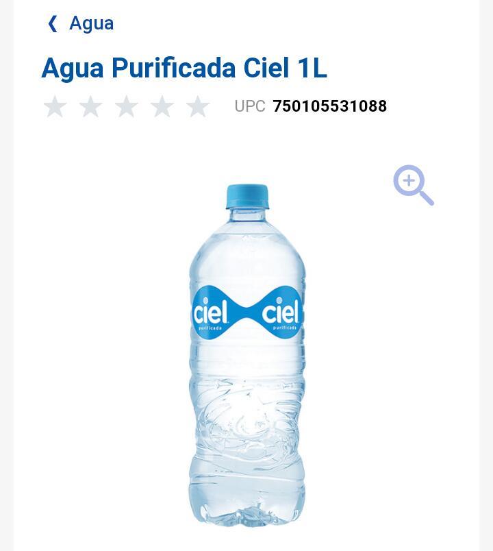 Soriana Mercado Orizaba Ver Agua Ciel 1L