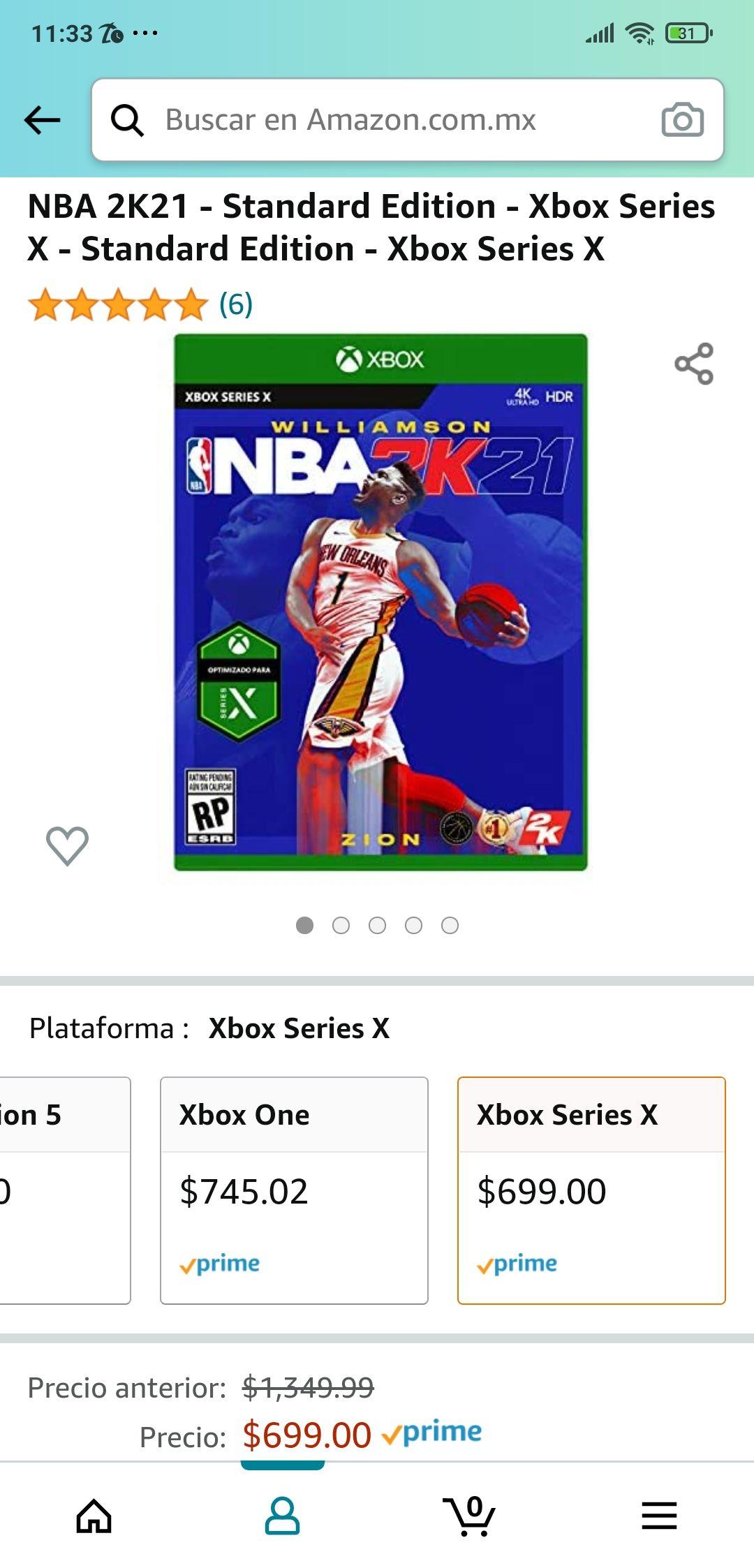 Amazon: NBA 2K21 - Standard Edition - Xbox Series X - Standard Edition - Xbox Series X