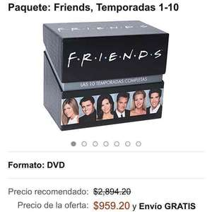 Amazon MX: Friends, Temporadas 1-10 en DVD a $959 Blu-ray $1149