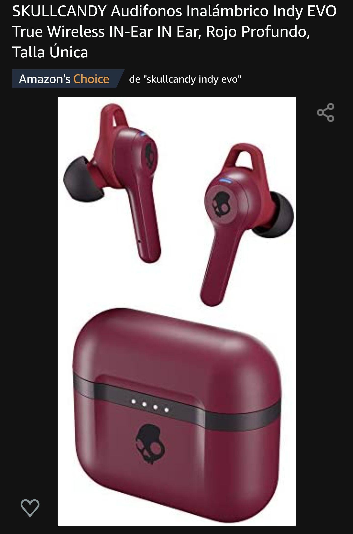 Amazon: SKULLCANDY Audifonos Inalámbrico Indy EVO