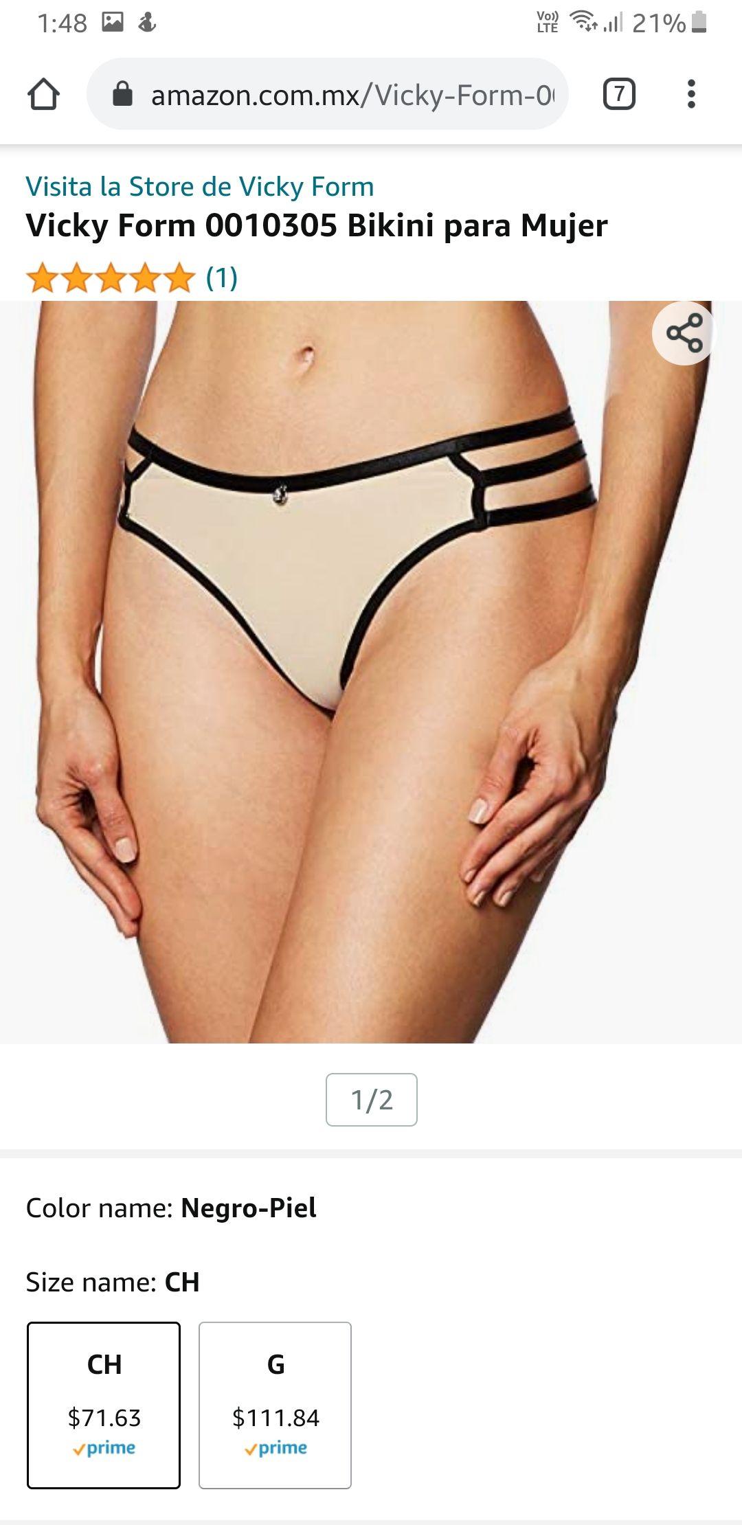 Amazon: Vicky Form Bikini talla chica