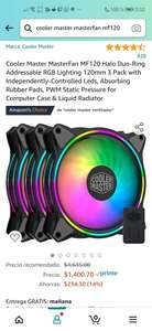 Amazon: Ventiladores Cooler Master MasterFan MF120 Halo Duo-Ring Addressable RGB Lighting 120mm 3 Pack