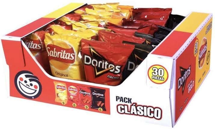 Sams Capu Puebla pack sabritas con 30 piezas