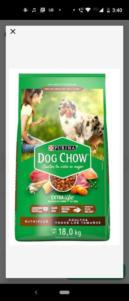 Rappi y Costco : Croquetas DogChow Nutri plus 18 kilos