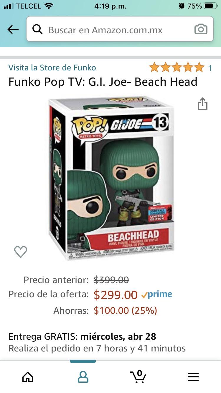 Amazon: Funko G.I Joe Beachhead Exclusivo