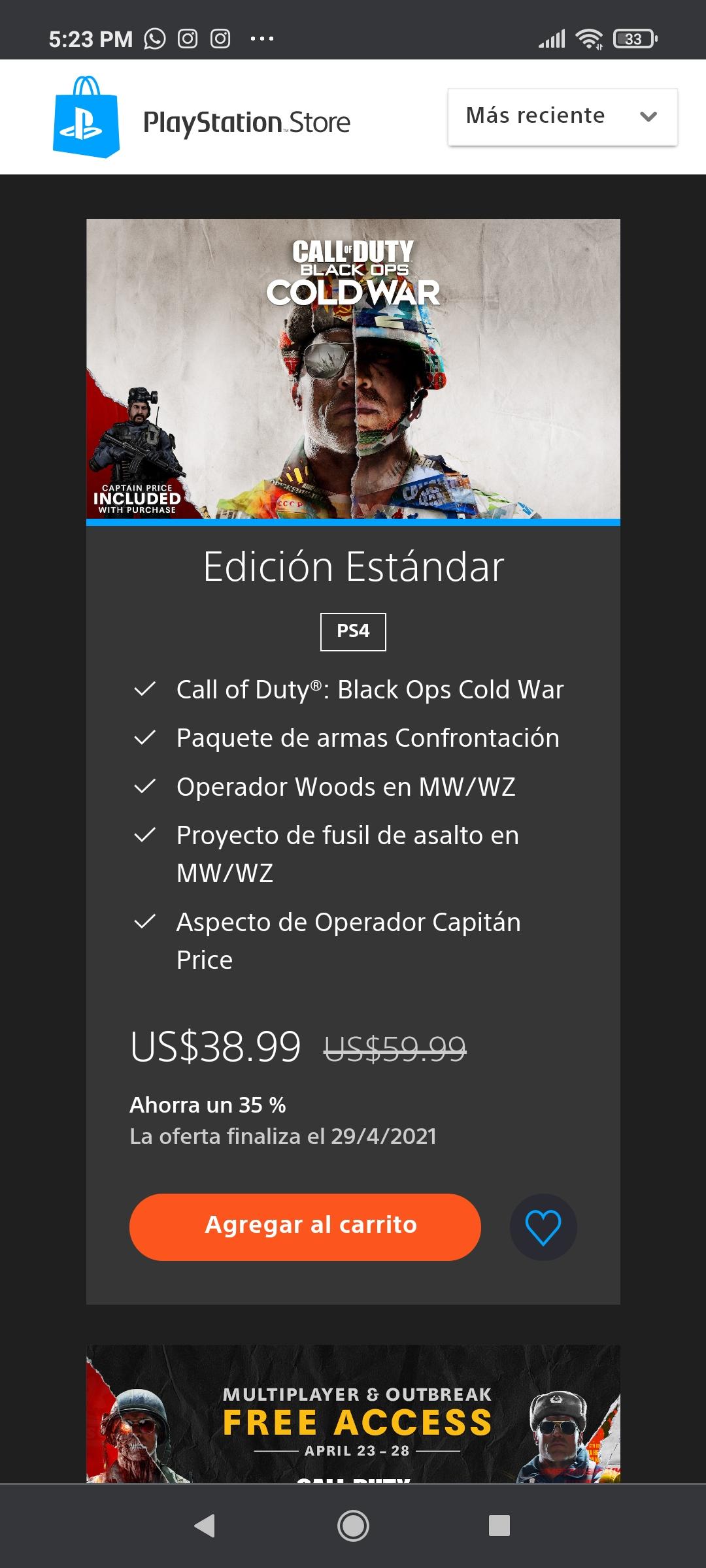 PlayStation: Call of Duty: Black Ops ediciones standard, cross Gen y ultimate con descuento