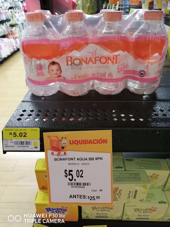 Walmart: AGUA BONAFONT BEBÉ