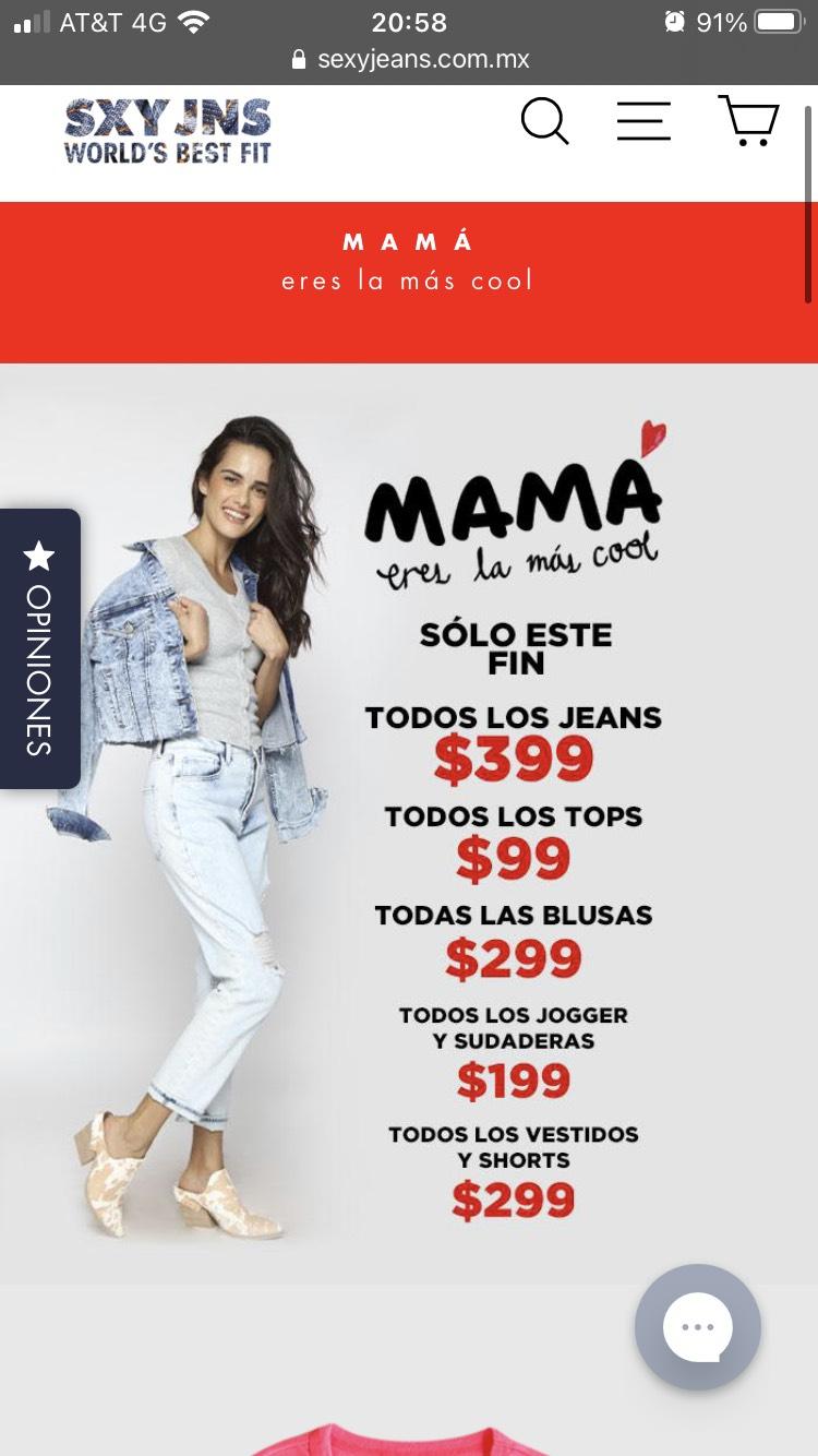 Sexy Jeans: todos los tops 99, todos los joggers y sudaderas 199 y más ofertas