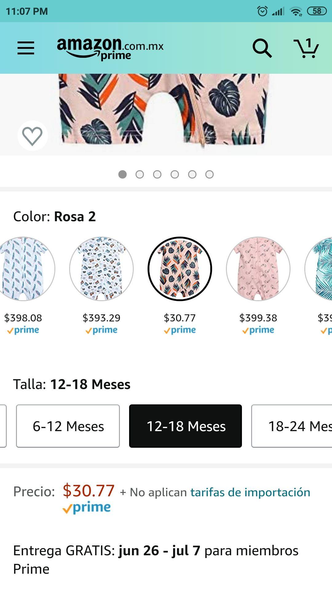 Amazon: Pijama para bebe
