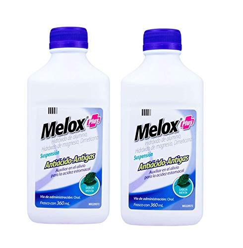 Amazon: Melox Suspensión Antiácido y Antigás, Sabor Menta, 360 ml, 2 Pack