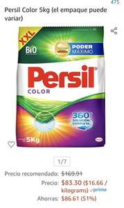 Amazon: Persil Polvo 5Kgs Color