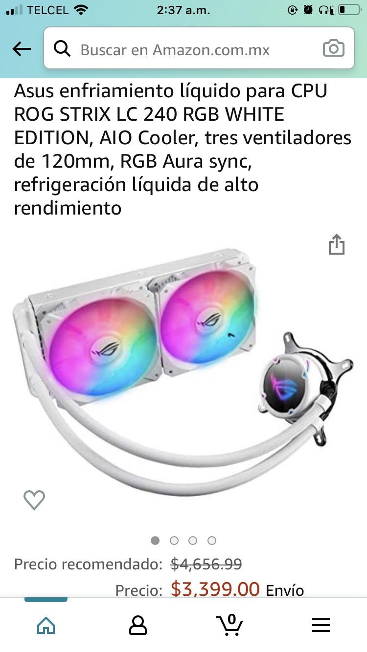 Amazon: Asus rog strix lc 240mm white