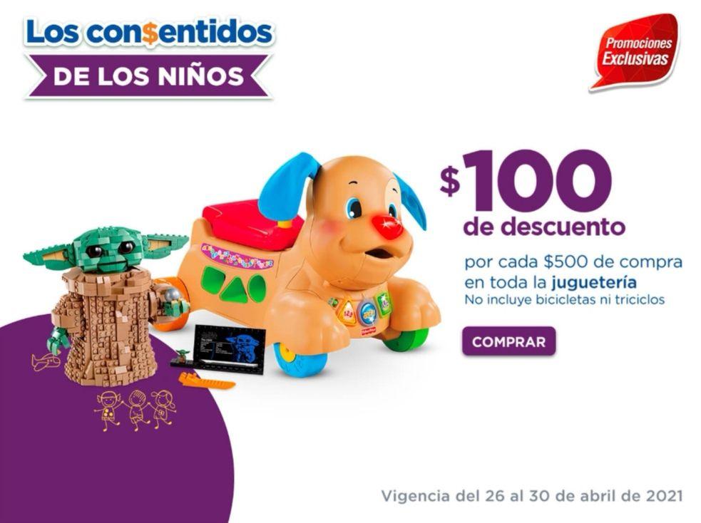 Chedraui: $100 de descuento por cada $500 en toda la juguetería