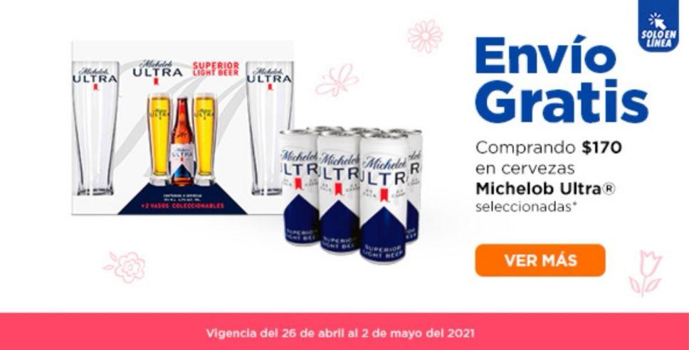 Chedraui: Envío gratis en super en la compra de $170 en cervezas Michelob Ultra seleccionadas