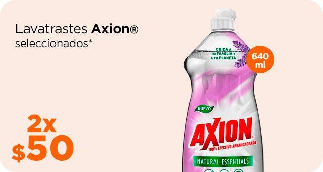 Chedraui: Lavatrastes Axion 640 ml. 2 x $50