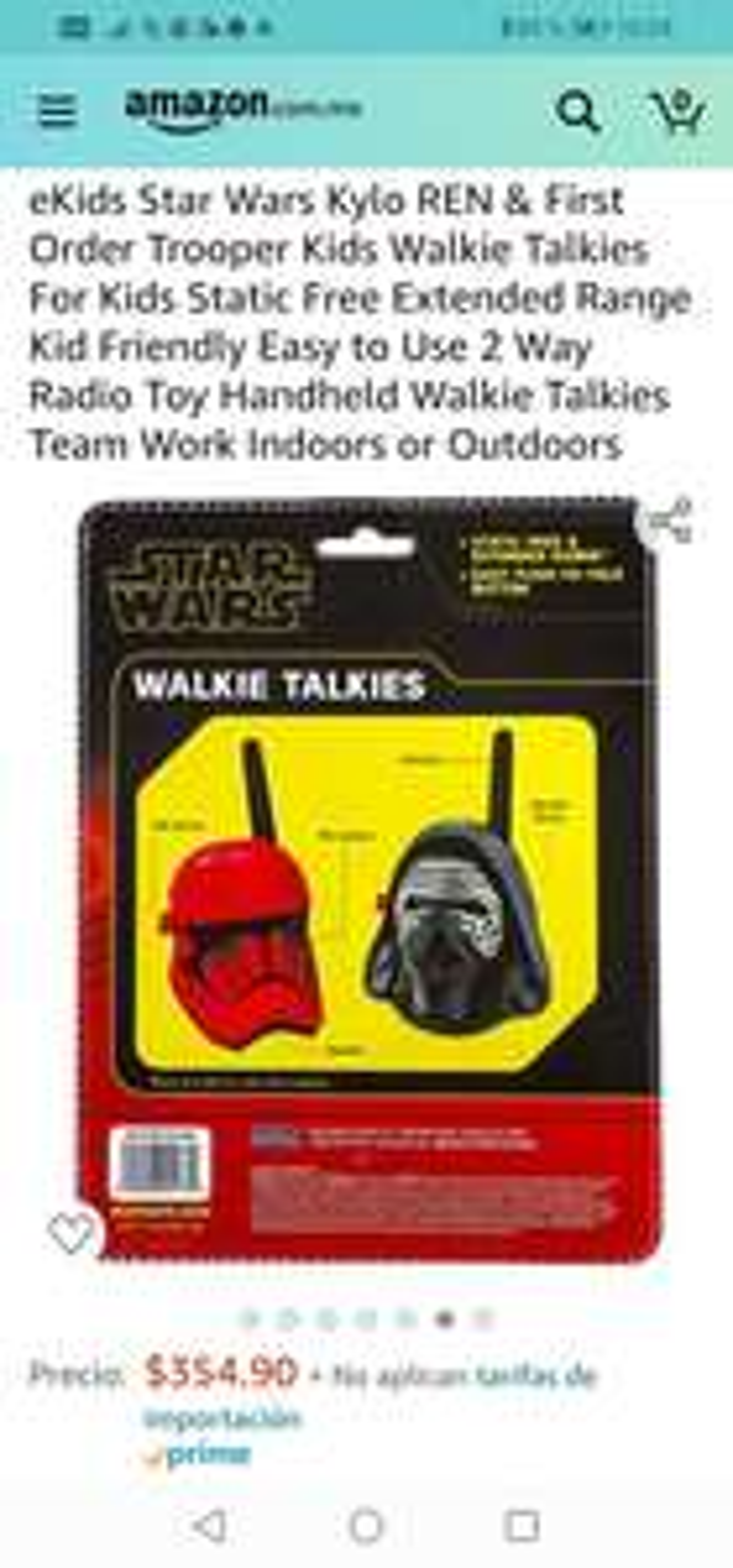 Amazon: Walkie Talkies For Kids Static Free Extended Range Kid Friendly Easy to Use 2 Way Radio Toy Handheld Walkie