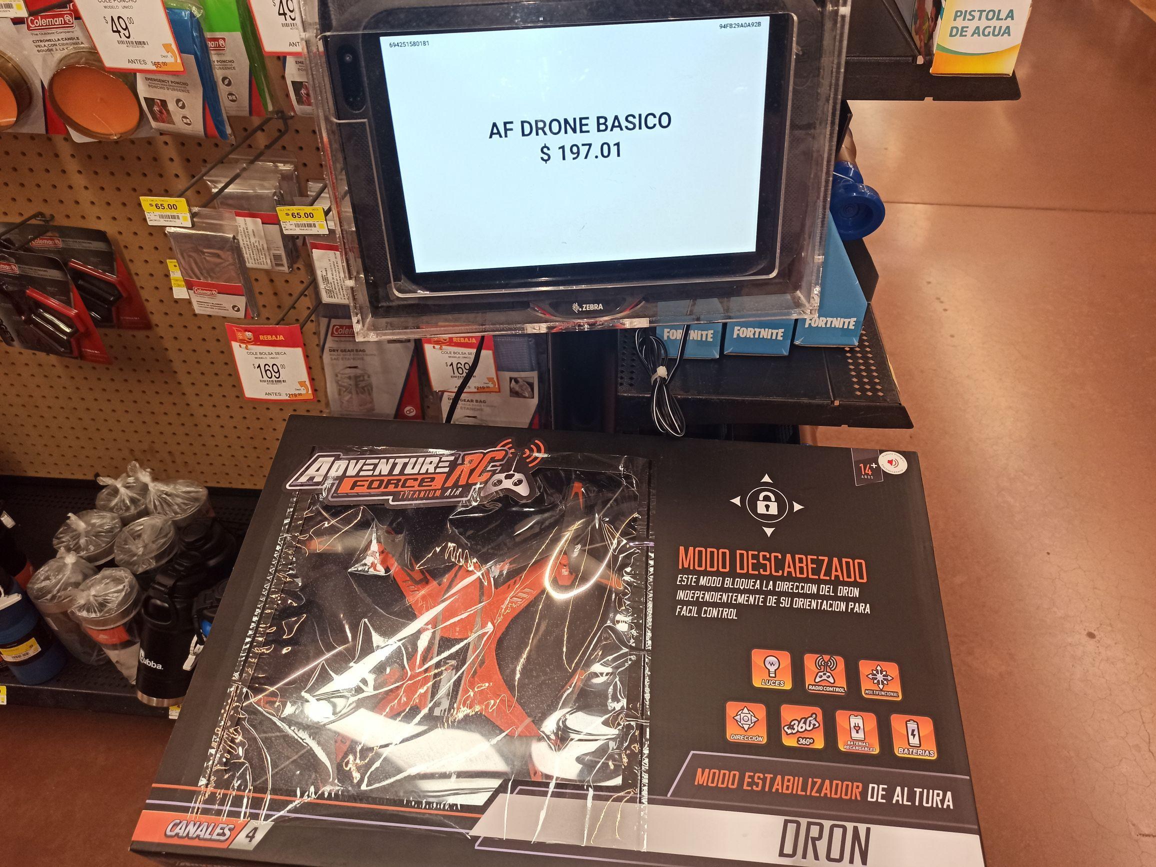 Walmart: Dron en liquidación con promo novela