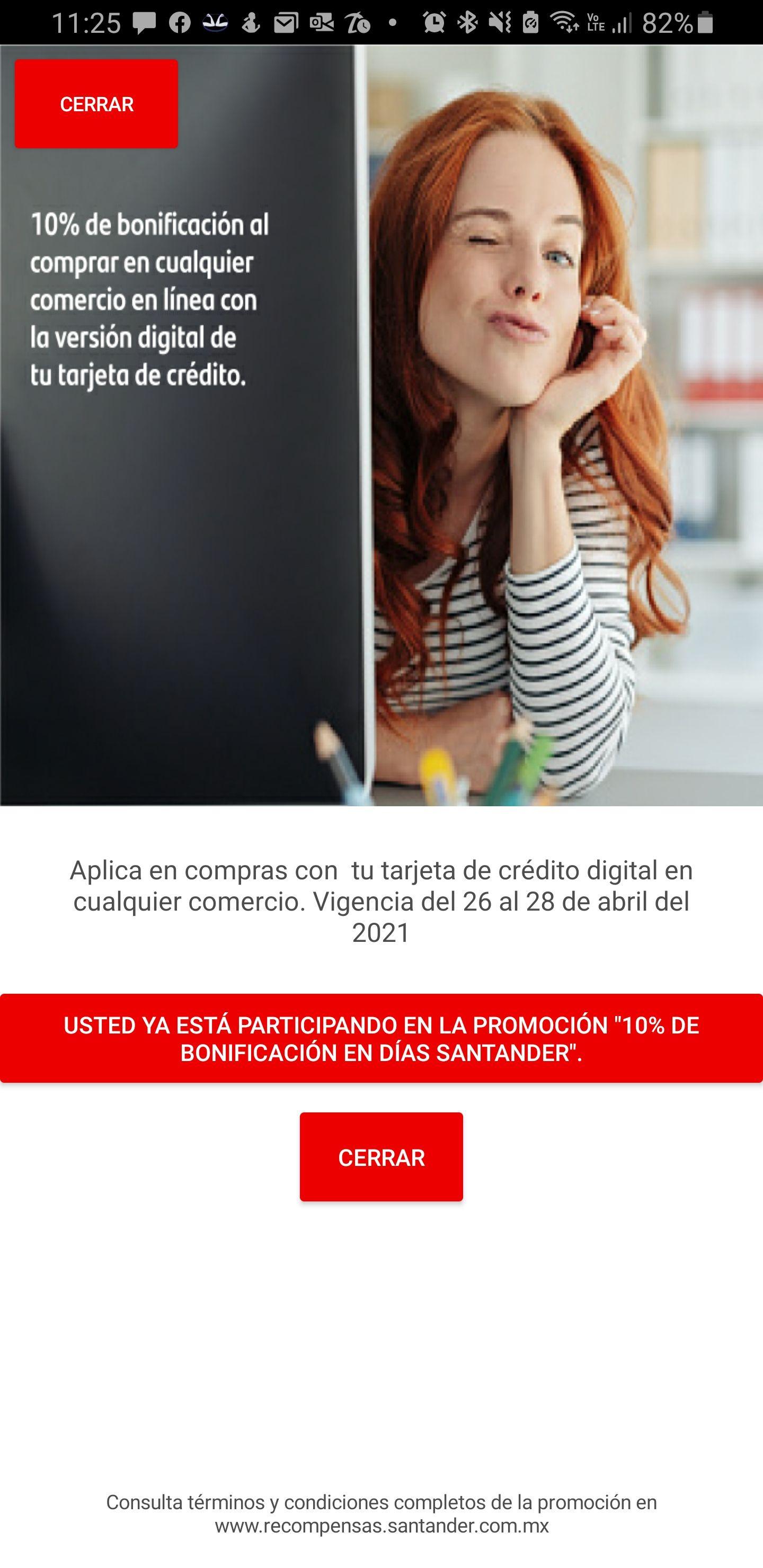 Días Santander 10% de bonificación