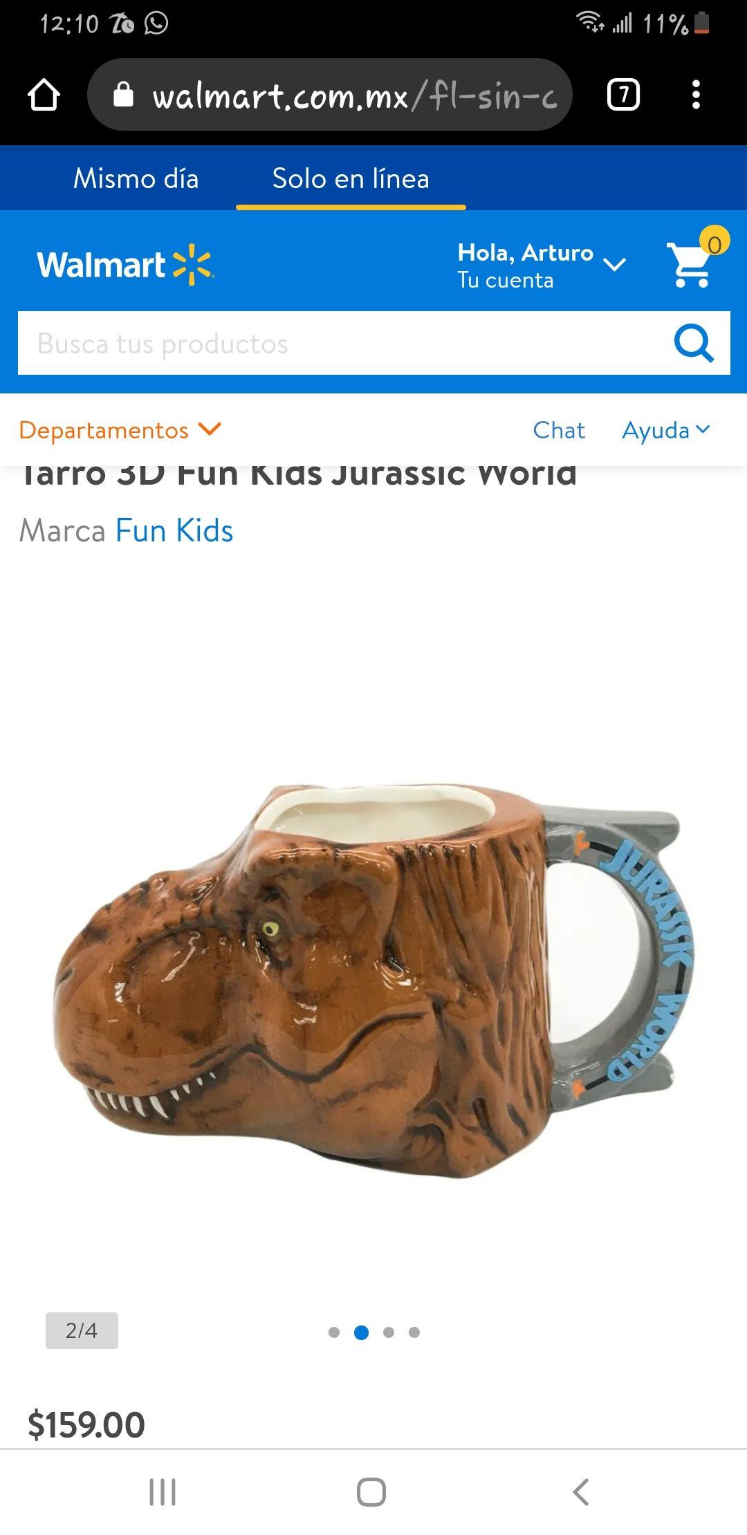 Walmart: Jurassic world taza de t. Rex