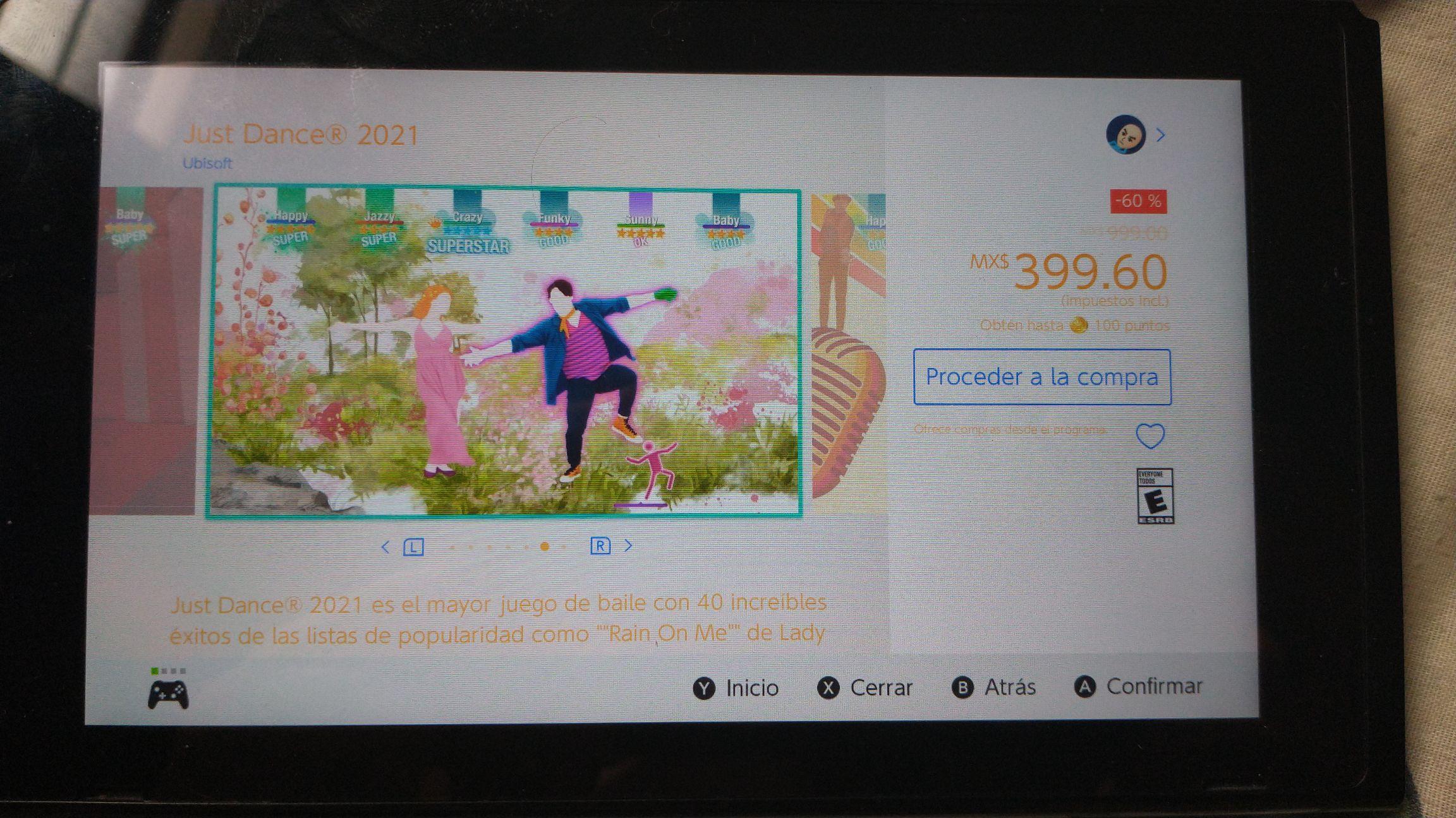 Nintendo eShop: Just Dance 2021 para Nintendo Switch