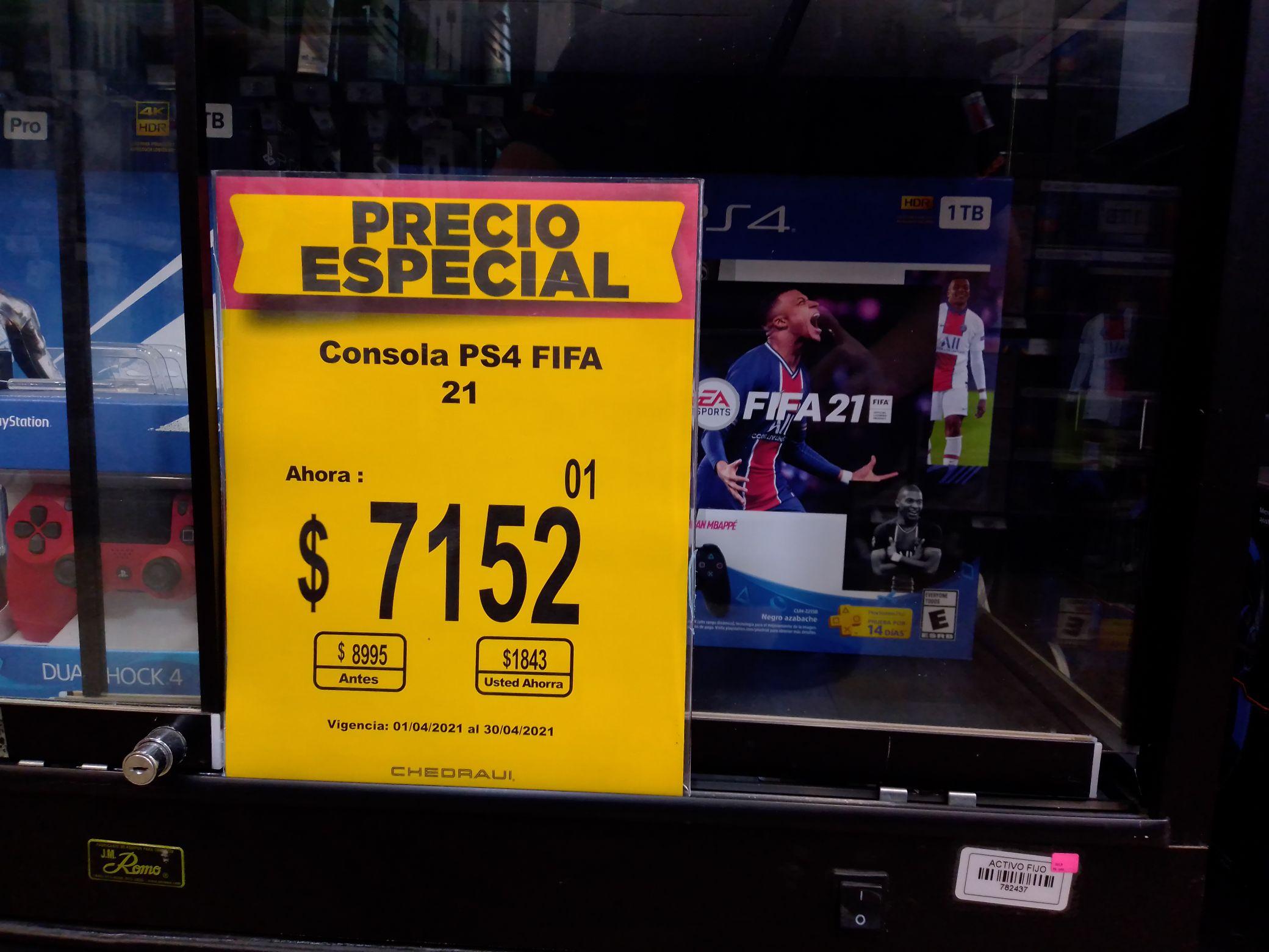 Chedraui: Consola PS4 FIFA 21