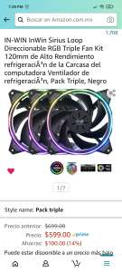 Amazon: Ventiladores RGB In-Win