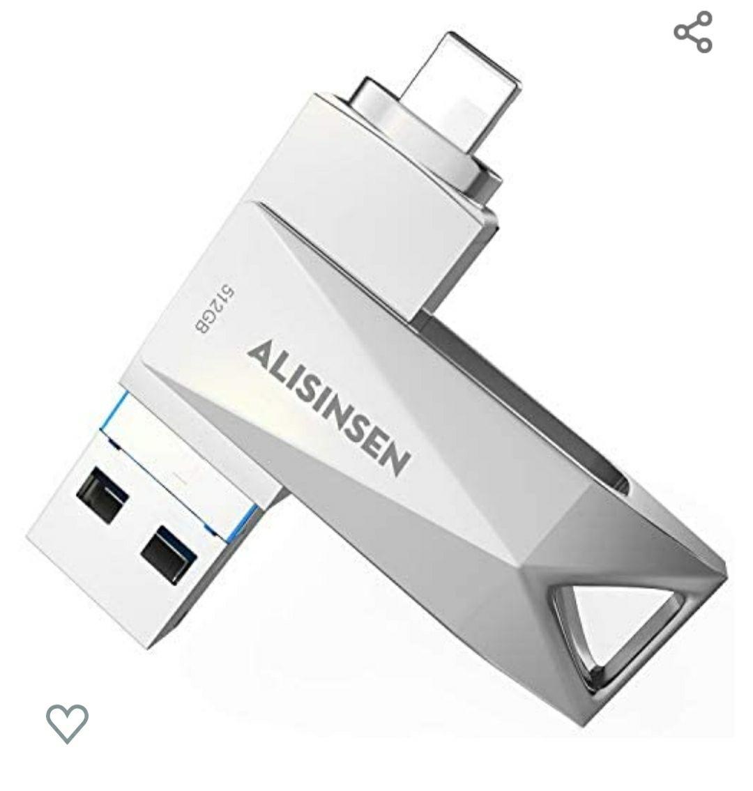 Amazon: Unidad flash USB para iPhone de 512 GB con adaptador tipo C para iPhone