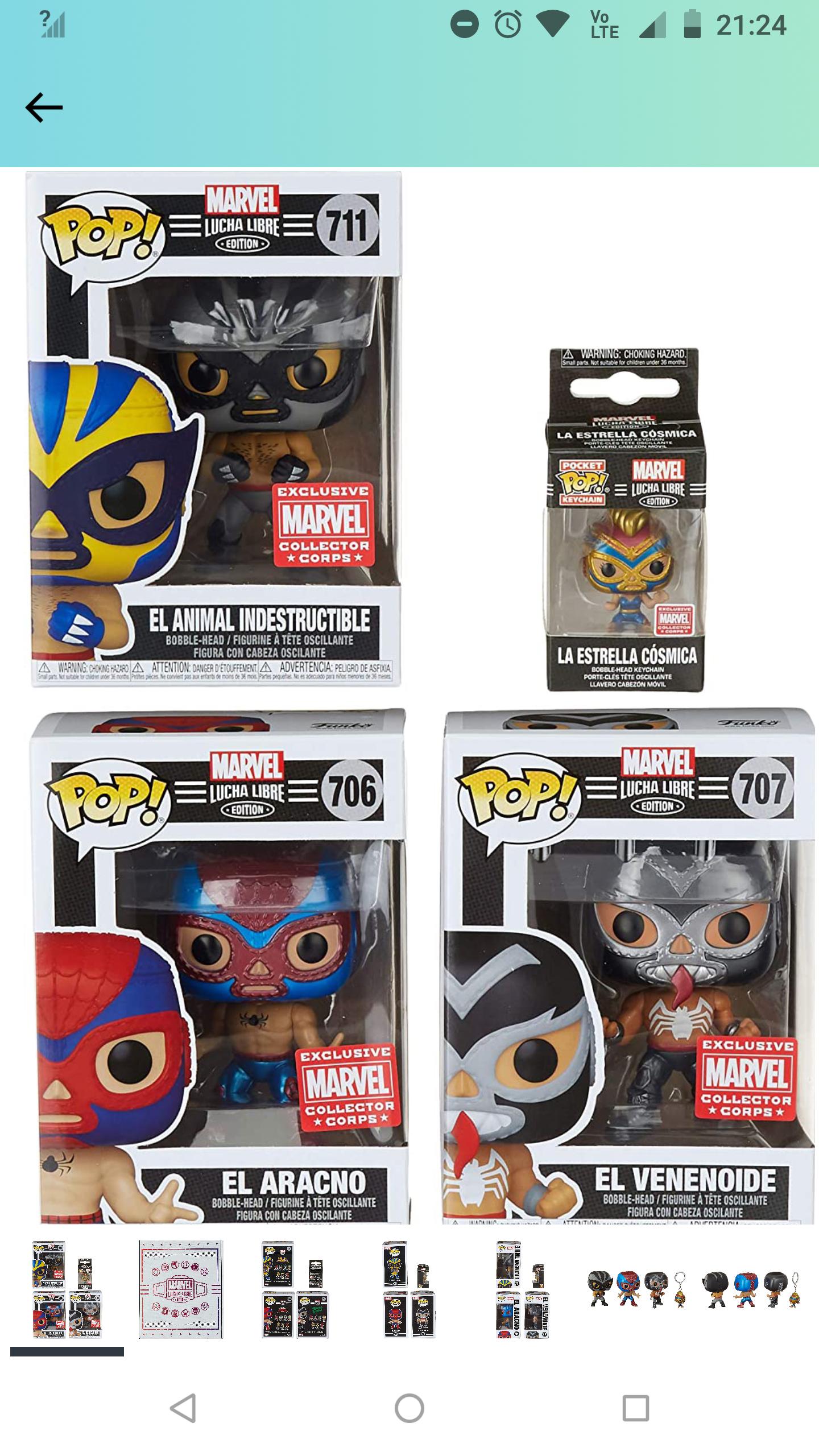 Amazon: Funko AMB: Marvel 3 Luchadores y un llavero Enero 2021