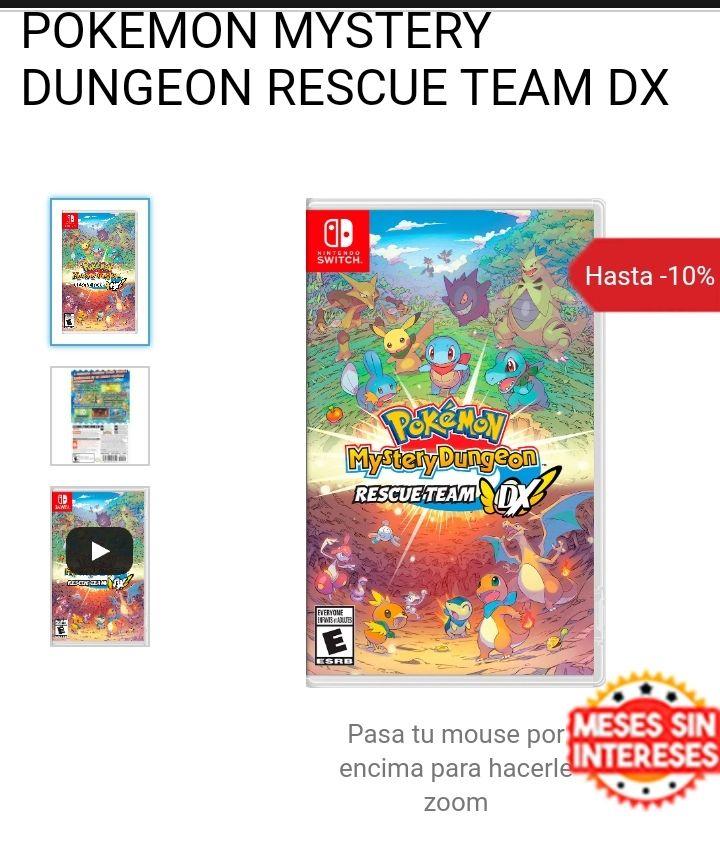 GamePlanet: Pokemon Mundo Misterioso equipo de rescate DX para Switch