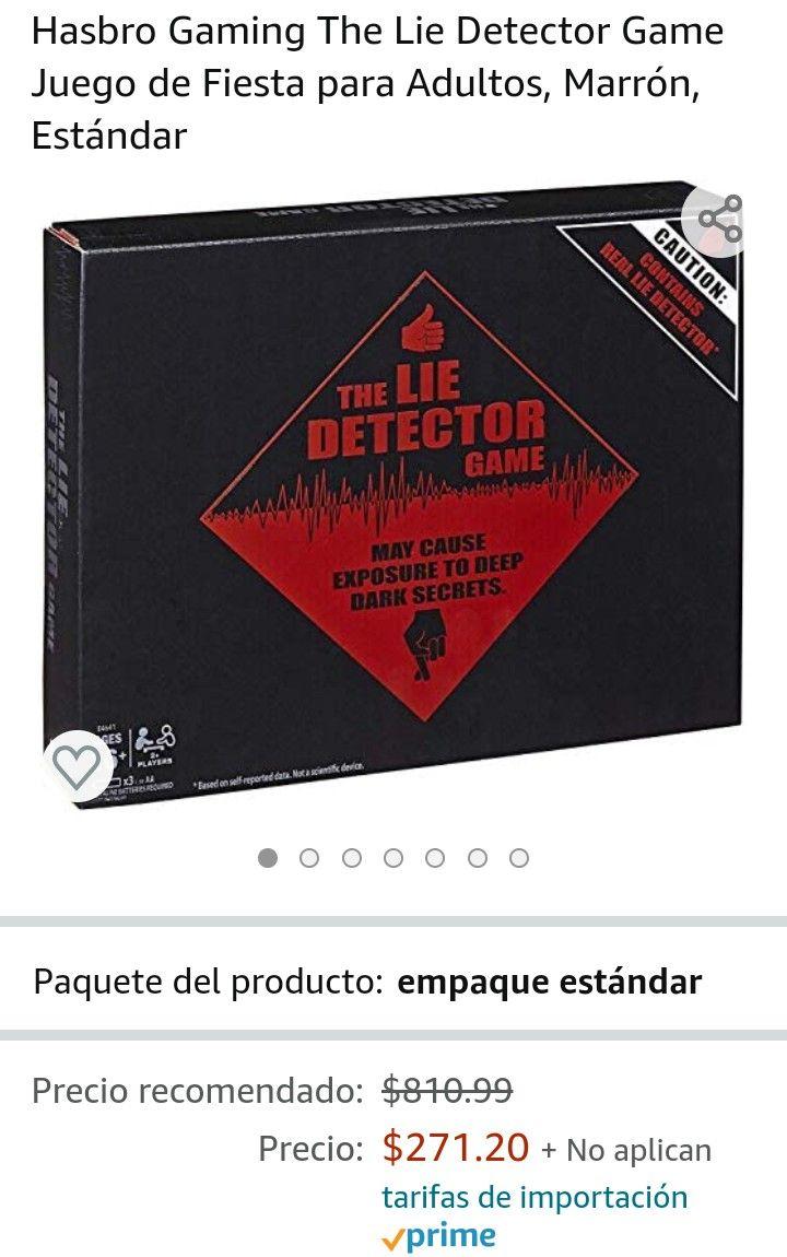 Amazon: Detector de mentiras hasbro, inglés