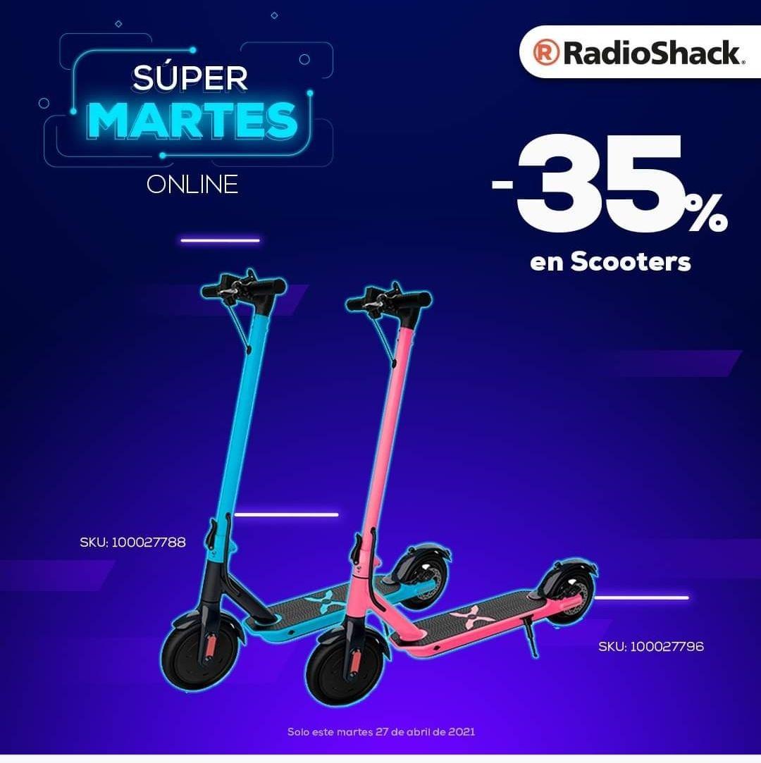 Radioshack, Martes online de Scotters