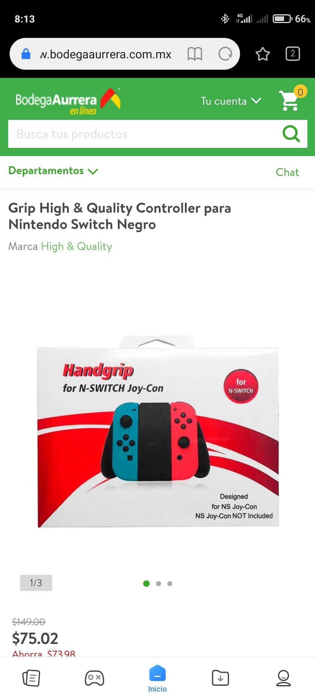 Bodega Aurrerá, HandGrip de Control de Nintendo Switch