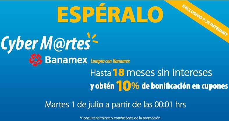 Walmart: CyberMartes Banamex 1 de julio