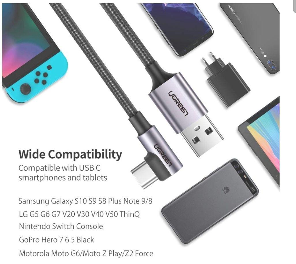 Amazon: Cable USB C de batalla y carga rápida