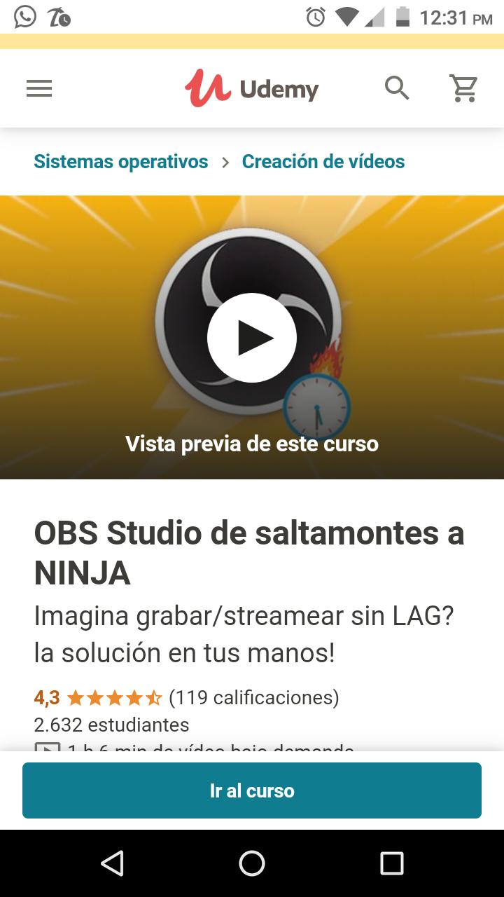 Udemy. OBS Studio